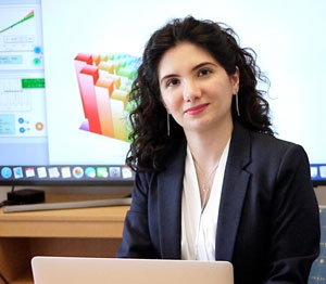 Zohreh Davoudi, an assistant professor of physics at the University of Maryland, has been awarded a 2019 Sloan Research Fellowship. Image credit: Faye Levine (Click image to download hi-res version.)