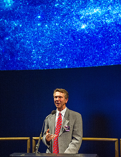 Neil Gehrels speaks at a Smithsonian National Air and Space Museum event in Washington, D.C., in 2015. Image credit: NASA Goddard/Judith Clark