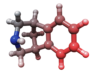 The modified benzazepine molecule on which the smoking cessation drug Chantix is based. Image credit: ScienceSource Images
