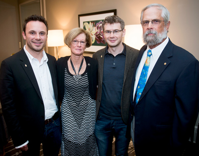 (L-R) Brendan Iribe, Dana Reisse, Michael Antonov and Robert Reisse. Photo: Lisa Helfert
