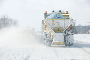 "Salt applied to roadways as a wintertime deicer has been shown to make significant contributions to increased salinity in freshwater streams in the United States, Europe and elsewhere. New research suggests that saltier water also liberates toxic metals and harmful nitrogen-containing compounds from streambeds and soils, creating dangerous ""chemical cocktails"" that can be more damaging than individual pollutants alone. Image credit: tamaw/iStock"