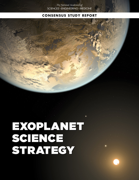 A new report by the National Academies of Sciences, Engineering, and Medicine, co-authored by UMD Astronomy Assistant Professor Eliza Kempton, recommended that NASA should lead a large, long-term direct imaging mission to study extrasolar planets, also known as exoplanets. Image credit: National Academies of Sciences, Engineering, and Medicine.