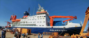 The German research icebreaker Polarstern in port. Image credit: S. Gassó (Click image to download hi-res version.)